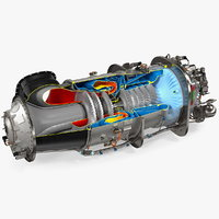 PT6C-67C Turboshaft Slice Engine