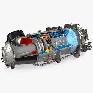3D pt6c-67c turboshaft slice engine