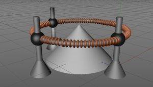 electromagnetic field 3D model