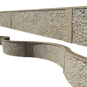 ultra realistic stone fence model
