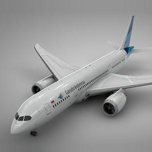 3D boeing 787 dreamliner garuda