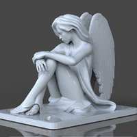 Beautiful Angel Sculpture