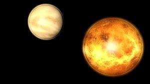 3D planet venus