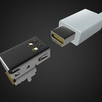 Mini display port  dp connector 33