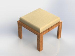 3D stool furniture chair