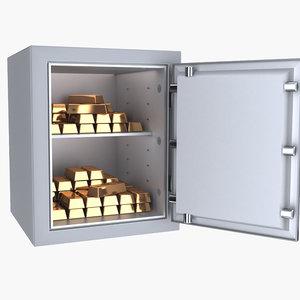 3D gold safe