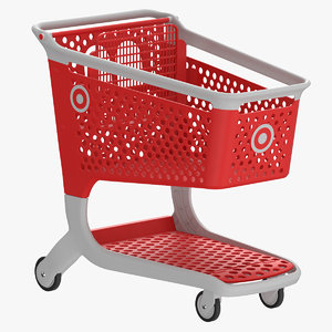 plastic shopping cart 01 3D model