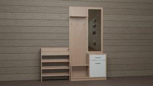 3D cabinet hanger mirror