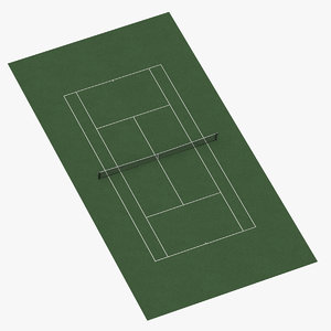 3D tennis court hardcourt