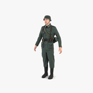 ww2 german soldier 3D