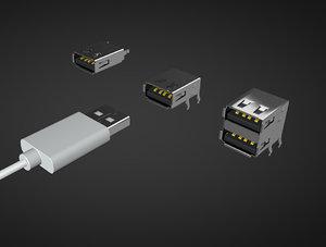 connector usb 3D model