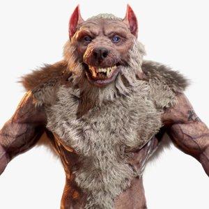 realistic werewolf model