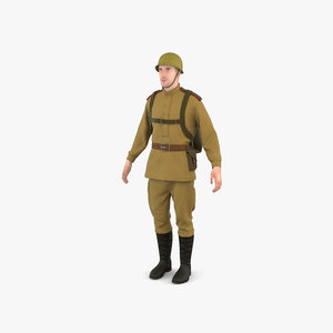 ww2 soviet soldier model