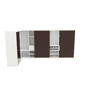 3D dress cabinet interior model