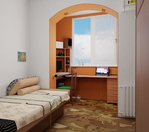 room interiors space 3D