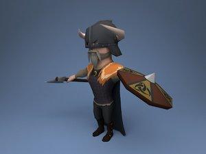 3D viking character model