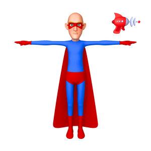 superhero cartoon 03 model