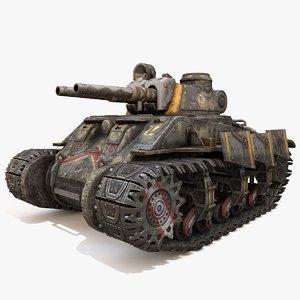 tank apocalyptic 3D model