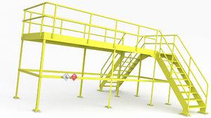 service platform 3D model