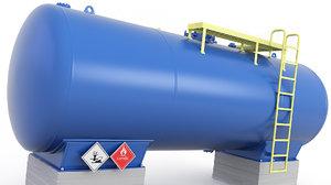 3D tank pressure oil model