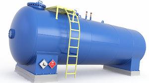 3D model tank pressure oil