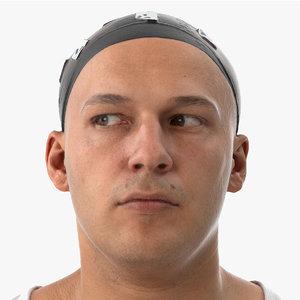 3D marcus human head eyes model