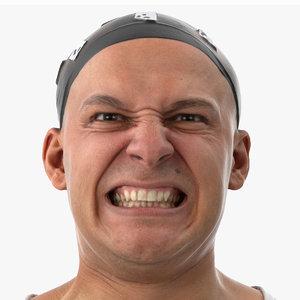 3D marcus human head anger