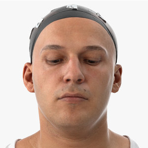 3D model marcus human head eyes