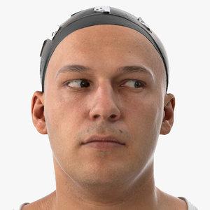 marcus human head eyes 3D model