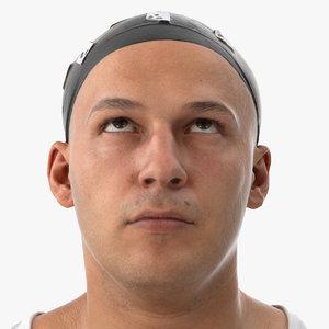 3D marcus human head eyes