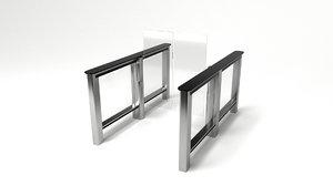 secured motorized swing 3D