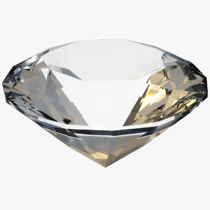 3D diamond piece model