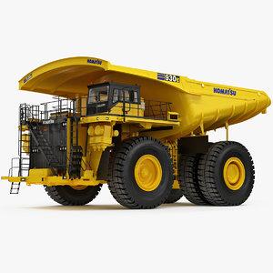 komatsu mining dump truck 3D model