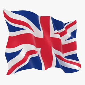 united kingdom flag animation 3D model