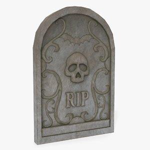 3D gravestone grave model