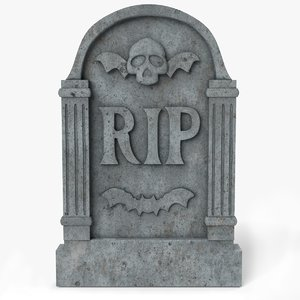 3D model grave gravestone