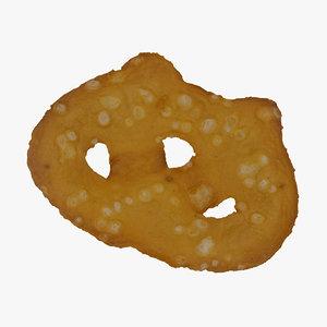 sea salt pretzel cracker 3D model