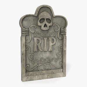 3D model gravestone grave