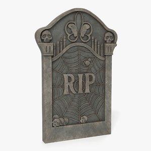 gravestone grave 3D model