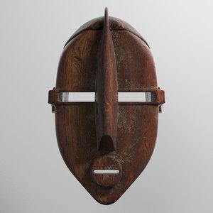 mask african 3D model