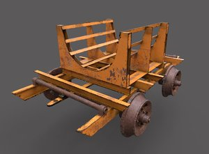 oil tank railcar 3D