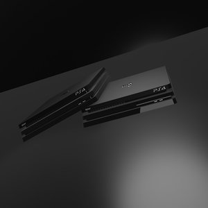 3D model ps4 console