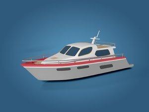 yacht vessel boat 3D model