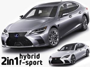 3D model ls500h hybrid ls500 f-sport