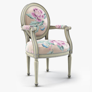 3D model louis xvi armchair