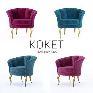besame chair design 3D model