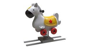 rocking horse 3D