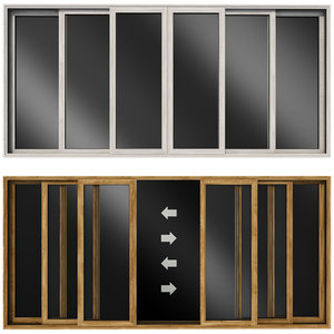 sliding stained glass wooden doors model