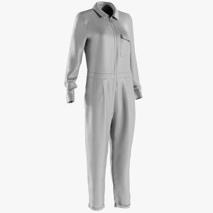 mesh women s overalls 3D