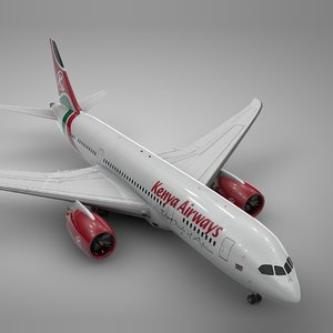 boeing 787 dreamliner kenya 3D